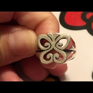 Retired James Avery Silver Spring Butterfly Ring